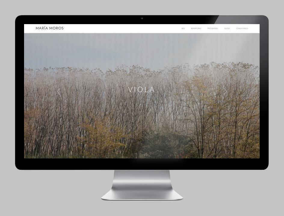 Diseño Web y logotipo por KUINI Estudio para la artista María Moros, la viola de María