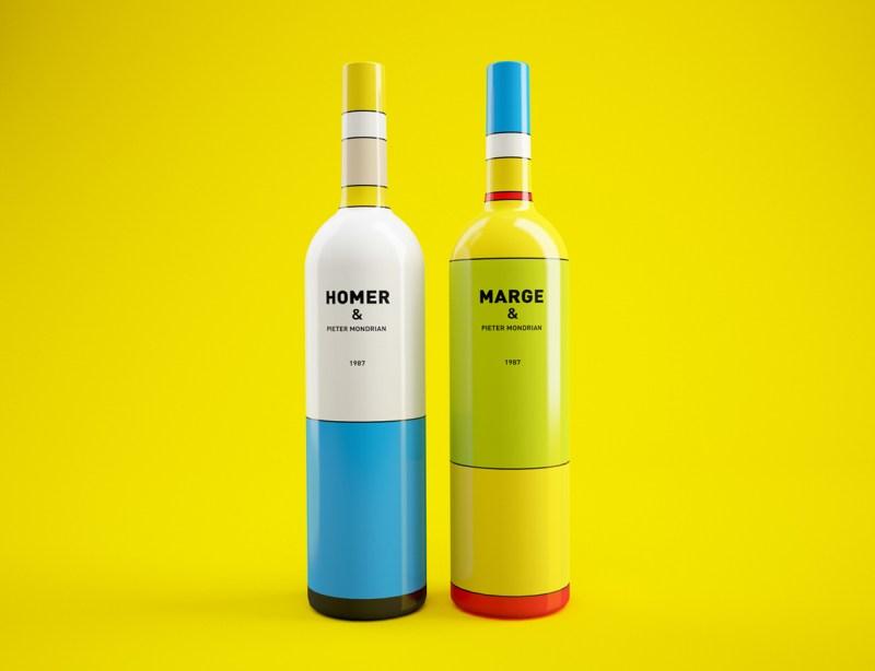 KUINI Estudio, estudio de diseño gráfico y web en Elda ( Alicante ), hace su post sobre la magnífica botella de vino Simpson .