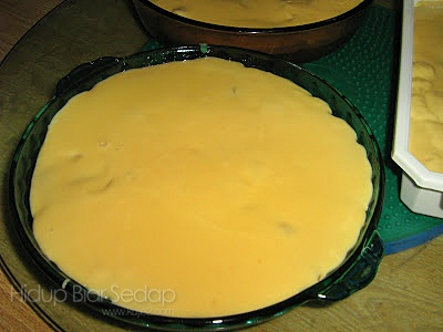 puding trifle peach