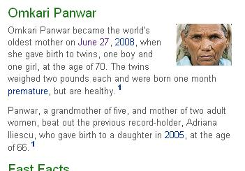 World's oldest mother gives birth to twins at 70