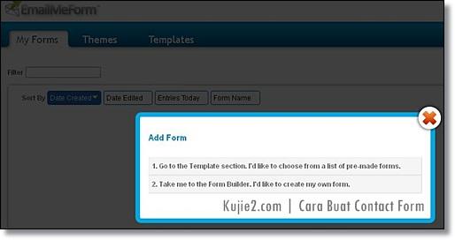 contact form blogspot