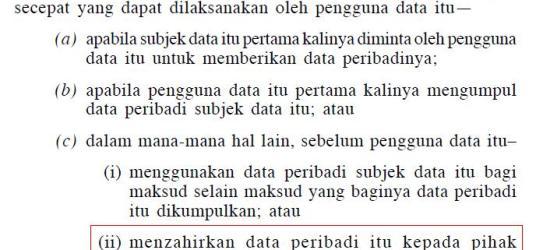 akta perlindungan data peribadi