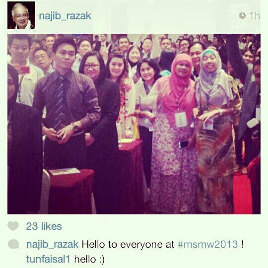 instagram PM Najib Razak