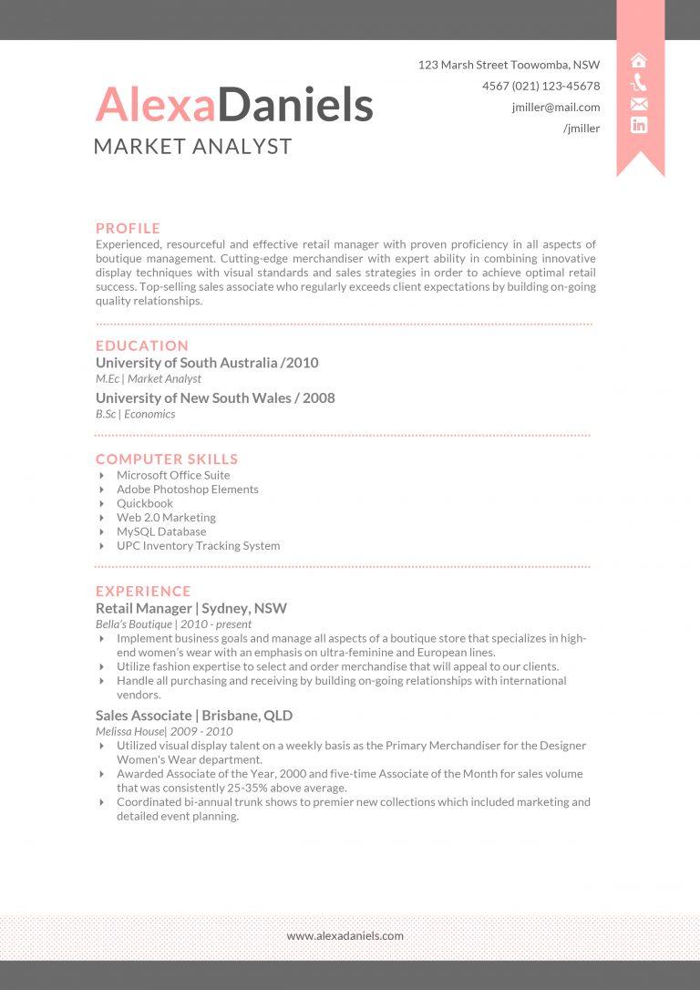 resume templates macbook