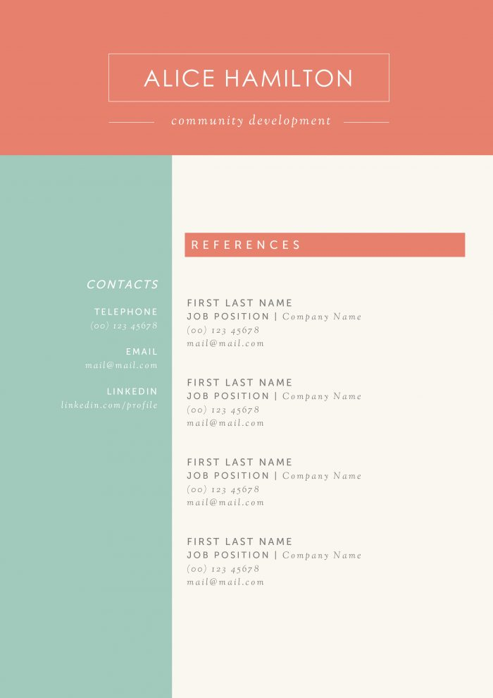 31 Creative Resume Templates for Word You\u0027ll Love Them  Kukook - Ms Word Resume Templates