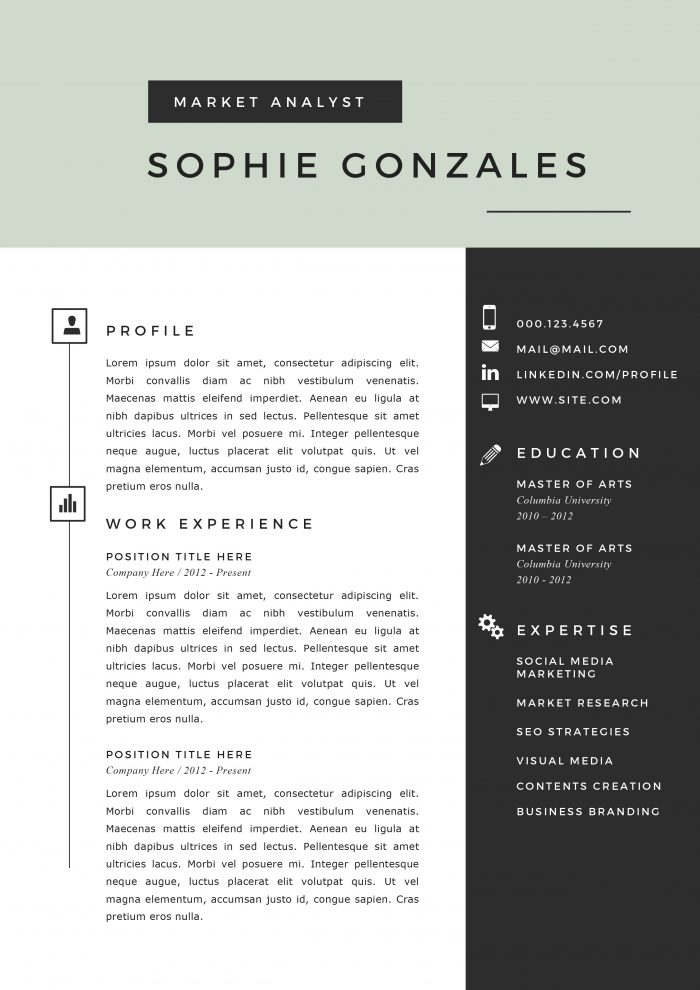 resume templates for software job