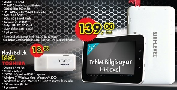 a-101 hi level tablet