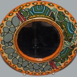 10 inch turtle painted mirror