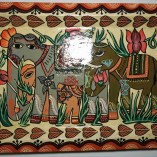 Paper Meche Elephant painted tray