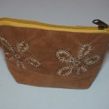 Brown Vegetable dye small purse