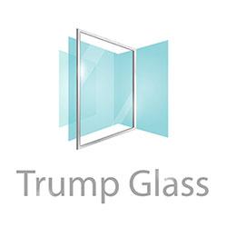 กระจกชาวเวอร์ กระจกกั้นห้องน้ำ trump glass