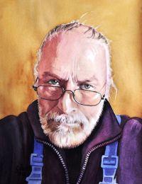 Bild: Selbstportrait, Spiegel, Konzentration, Brille von ...