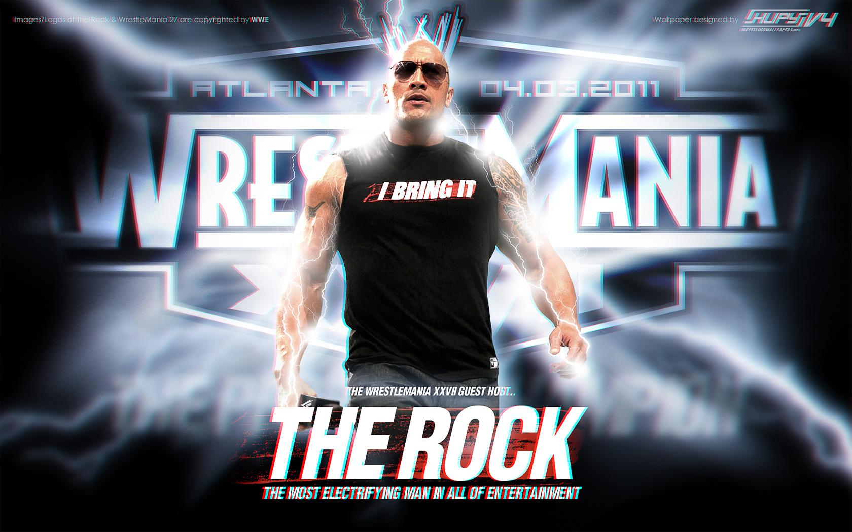 Wwe Wallpapers 2012 3d New Wrestlemania 27 The Rock Wallpaper Kupy Wrestling