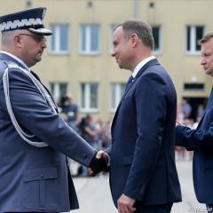 Prezydent RP Andrzej Duda na obchodach Święta Policji w Legionowie