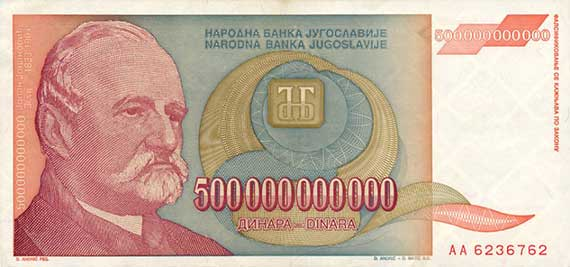Historical overview of Yugoslavian dinar value Exchange Rates in