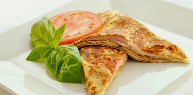 Ham & Cheese Crepes