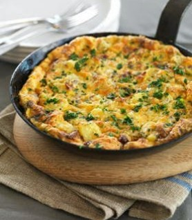 Omelette with Smoked Meat and Rosemary