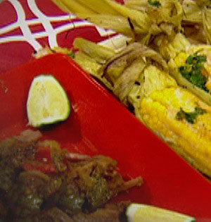 Mexican Corn on the Cob and Beef Carnitas Recipe
