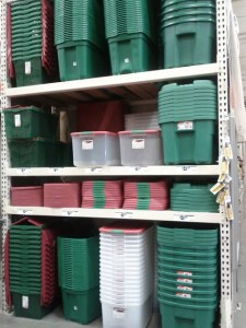 Home Depot Holiday Bins
