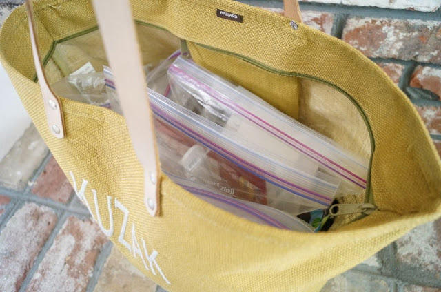My bag of organizing tricks