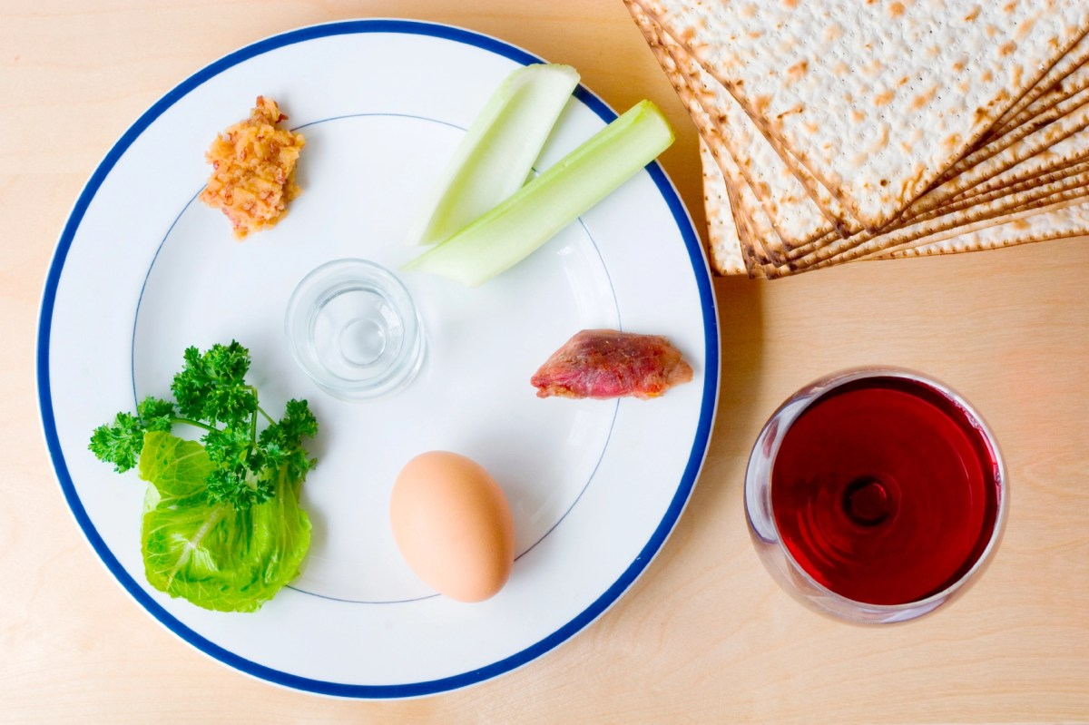 how to set the seder plate