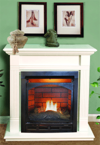 Heat Glow Vented Gas Fireplace : KVRiver.com