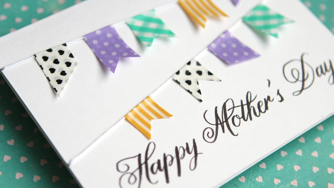 Simple DIY Mother\u0027s Day Card \u2013 No stamping! \u2013 kwernerdesign blog