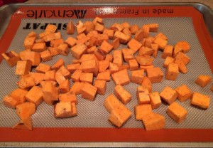 Sweet potato chunks by Veggie Vesta