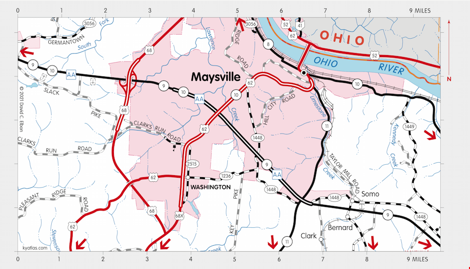 Kentucky Road Map Atlas Full Hd Maps Locations Another