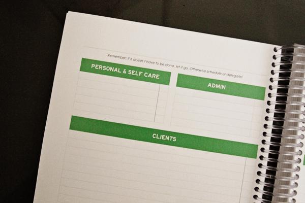 Kyla Roma 2013 Planner Design: Left Page