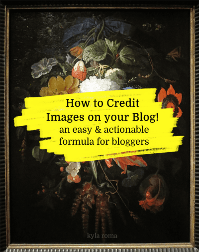 How to Credit Images On Your Blog - A Guide