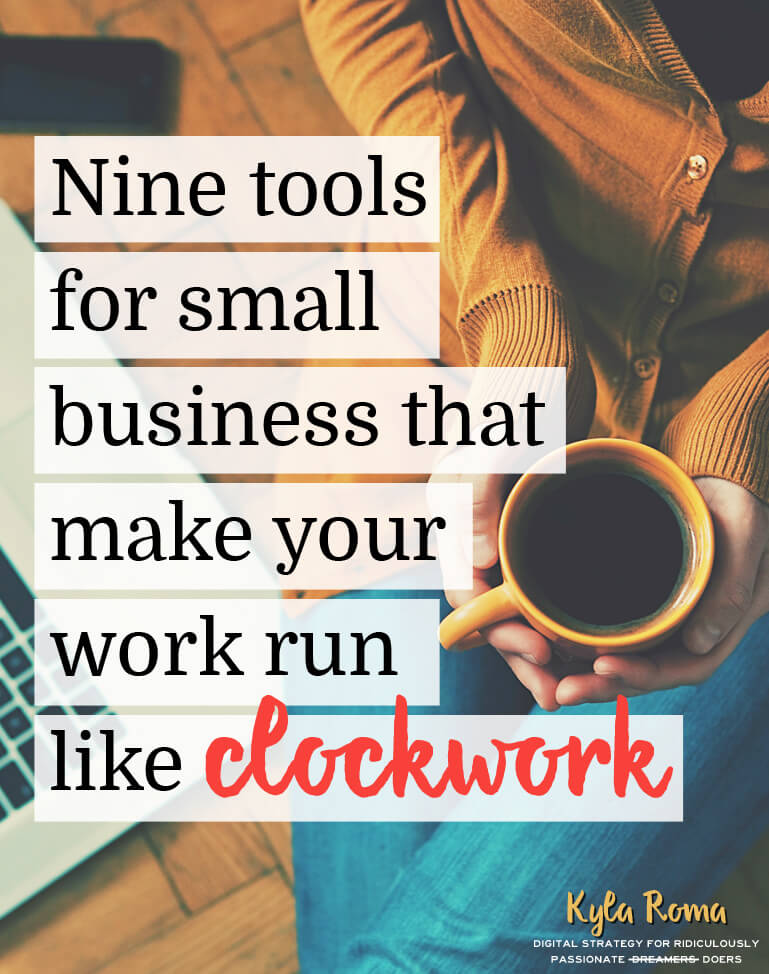 Nine tools for small business that make your work run like clockwork. Resources, services and tools for bloggers and small business owners!