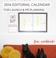 The ultimate editorial calendar for bloggers and business owners, PR and launch planning by @kylaroma