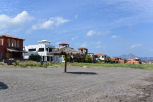 Loreto Bay houses from the beach
