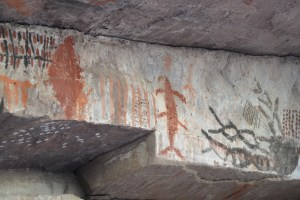 Pre-Colombian Cave Paintings, sans cave.