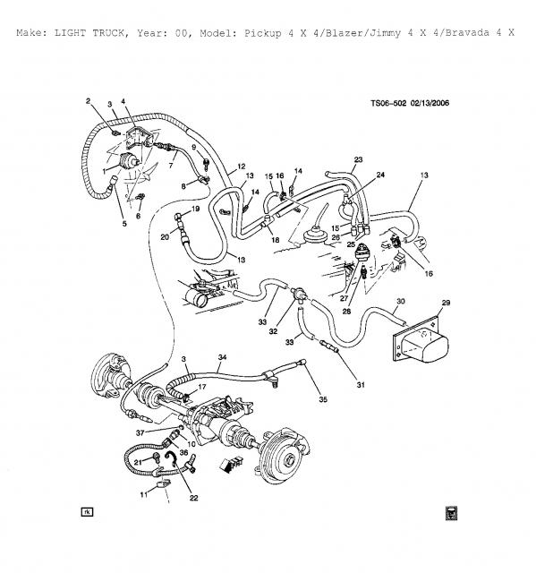 2000 blazer 4wd vacuum diagram