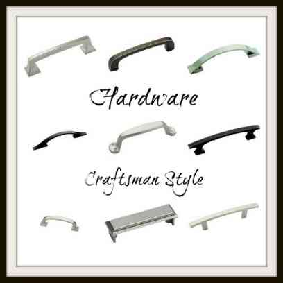 9 different styles of hardware to suit craftsman style cabinets