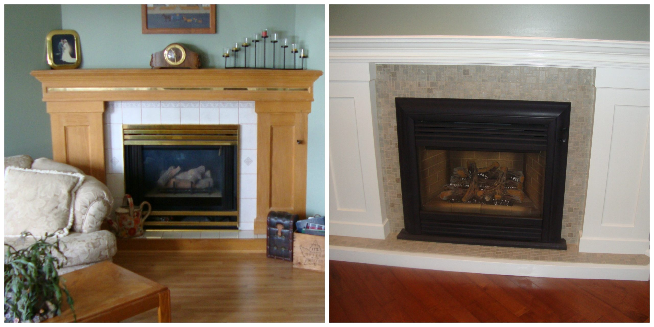 Fireplace Update Ideas With Stoneskin Tile And Painting