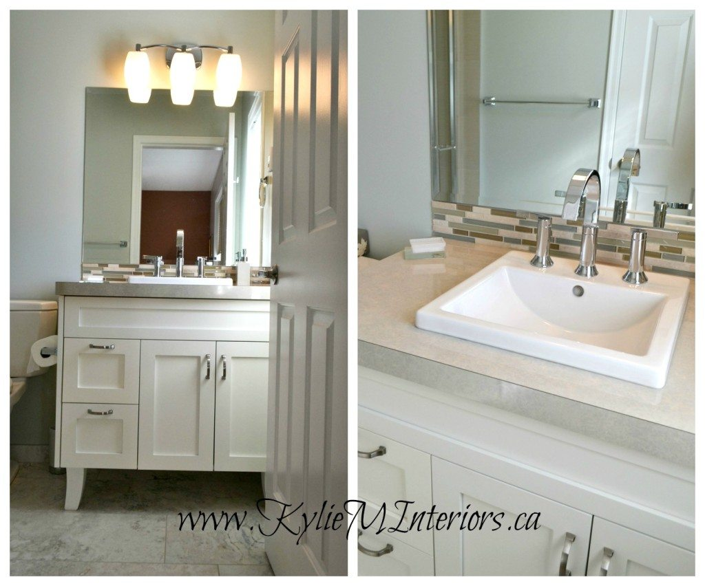 Spa Feeling Bathroom Best Paint By Benjamin Moore Gray Cashmere With White Canity Square Sink