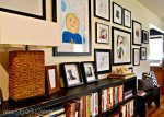 ideas for hanging an artwork gallery of kids art and framed photos