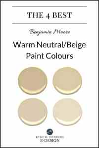 The 4 Best Benjamin Moore Warm Neutral Paint Colours ...