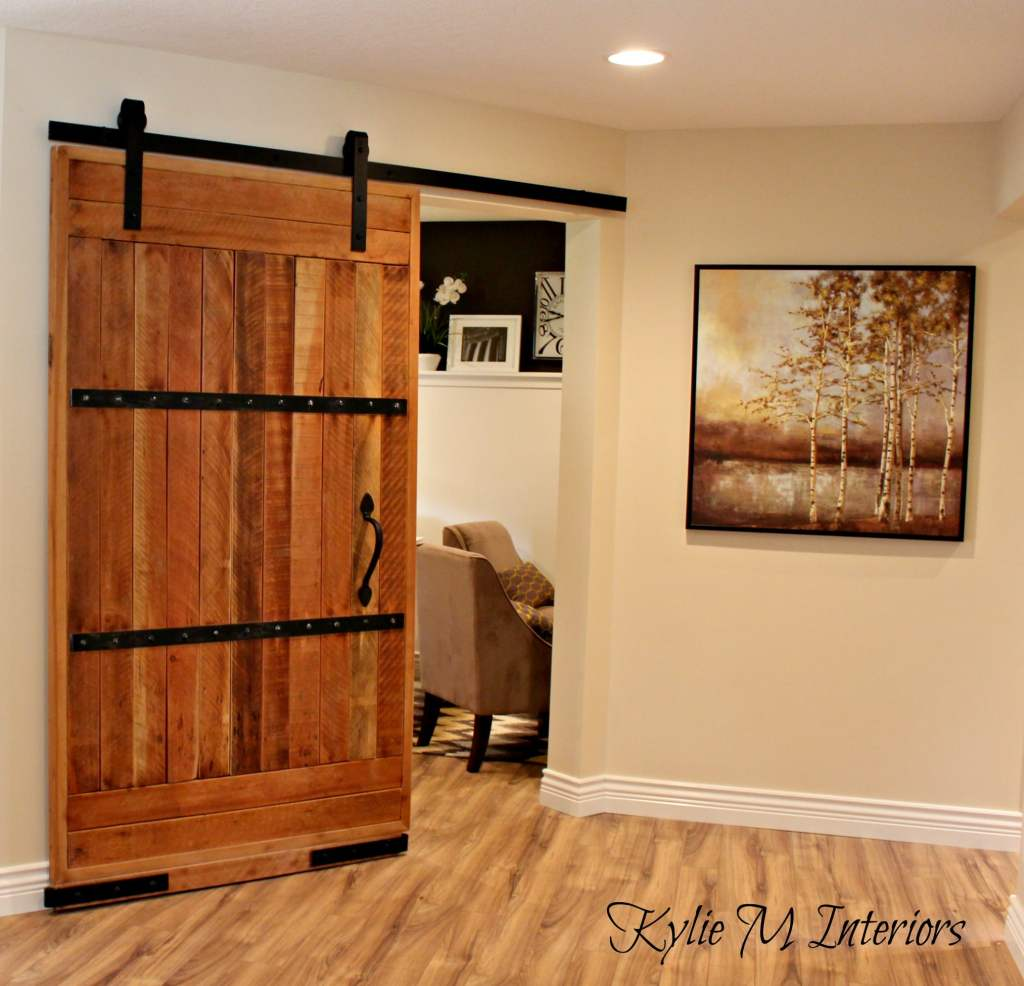 My new home office sliding barn door and more for My new home