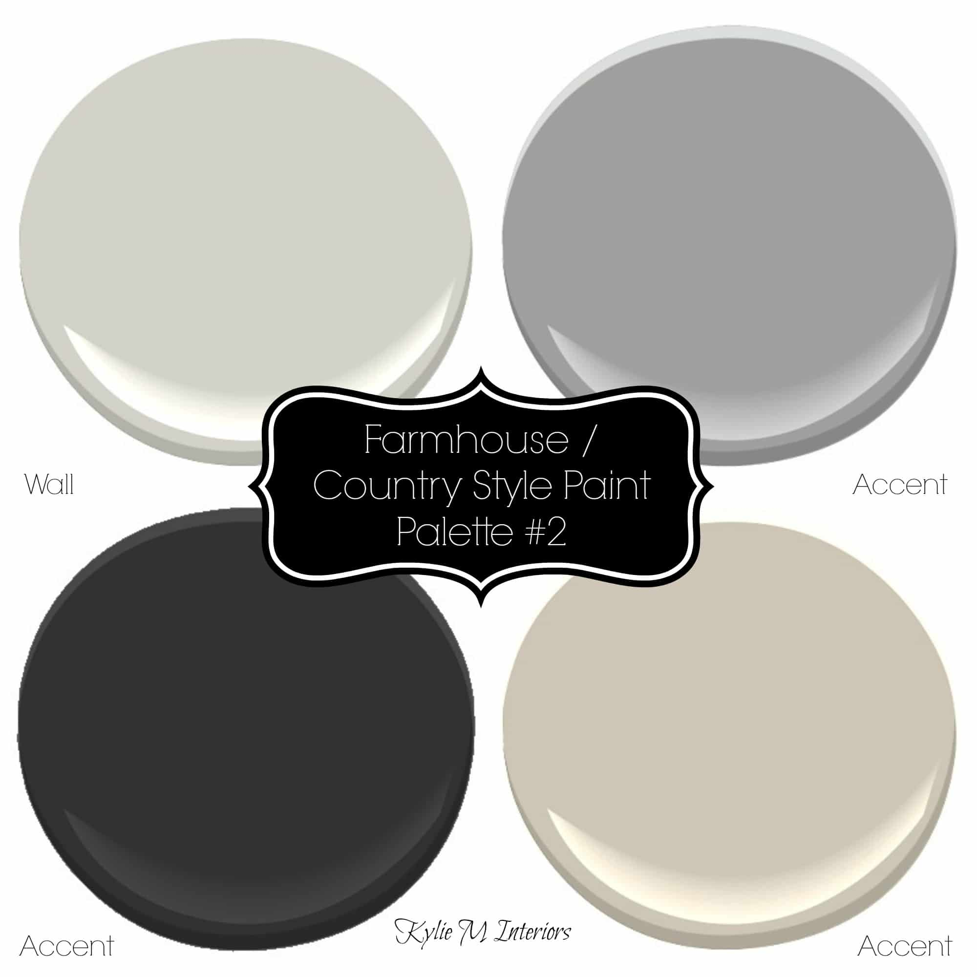 Farmhouse Country Style Paint Palette With Sherwin Williams Paint Colours