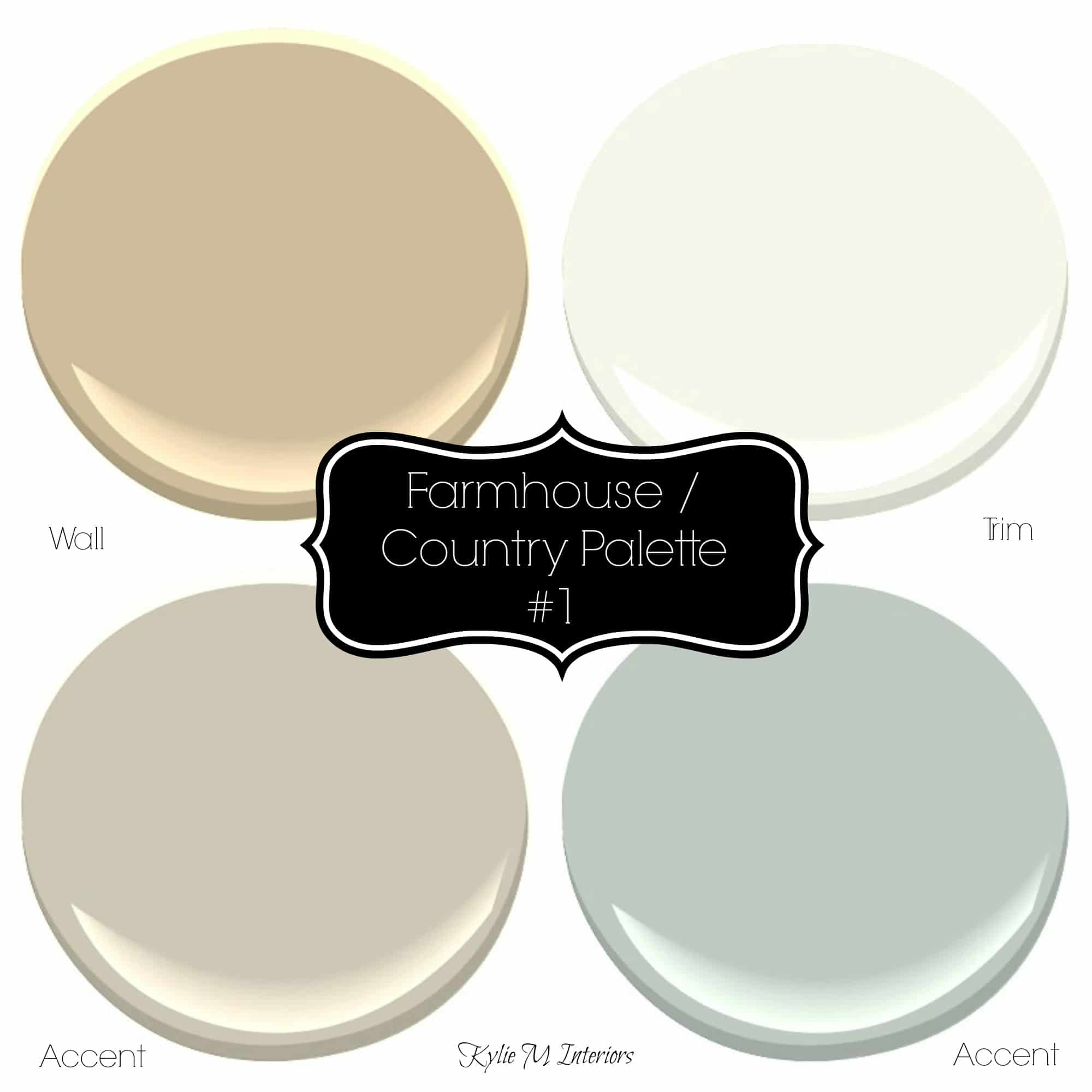 Farmhouse Or Country Style Paint Palette Ideas With
