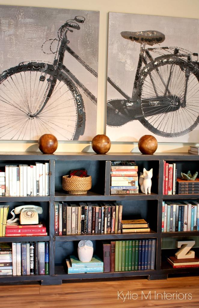 Ideas For Home Decor With A Long Low Bookcase Arrange Books By Colour And Use Accessorizes In