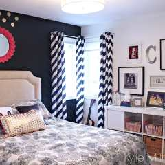 Girls Bedroom: Black is The New Pink