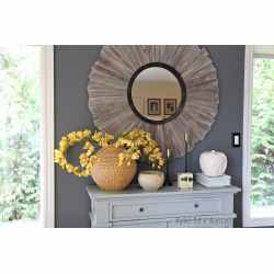 Modish Benjamin Moore On Feature Wall Farmhouse Or Country Style Room Home Rustic Wood Mirror Painted Buffet By Kylie Benjamin Moore On Feature Wall Farmhouse Or Country Style