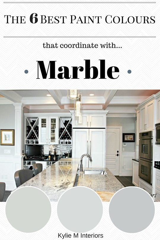 The Best Paint Colours To Coordinate With Marble