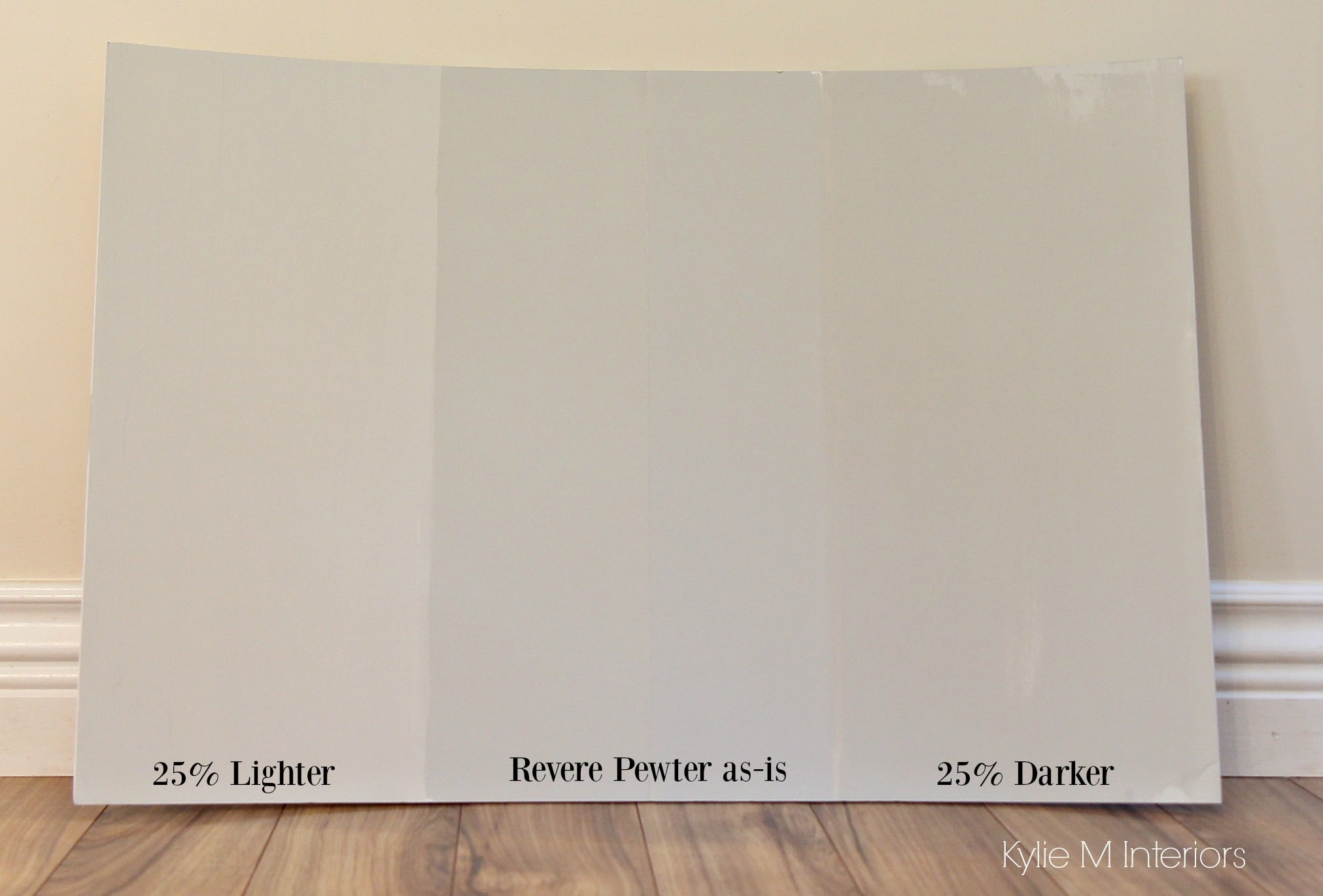 How to lighten and darken a paint colour. Benjamin Moore Revere Pewter. Kylie M Interiors e ...
