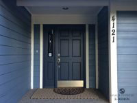 Painting Doors And Trim Different Colors. Exterior Door